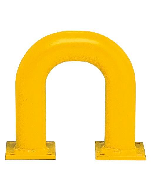 Steel barriers R 3.3 for internal usage, yellow, painted