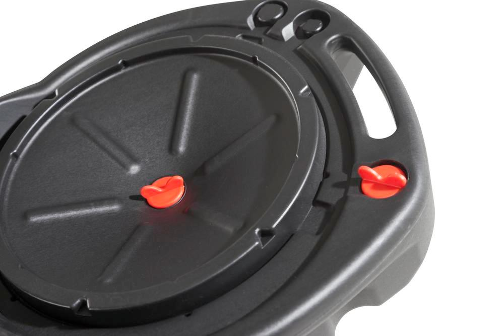 Waste Oil and Coolant Sump, 8 litres, closed, round, with 3 handles - 2