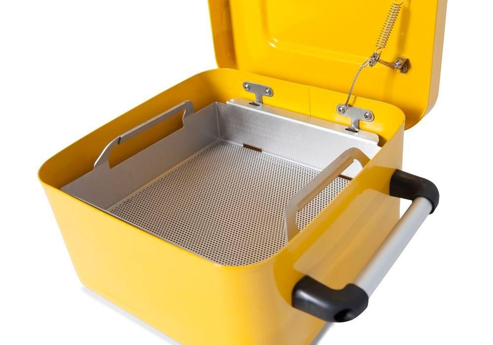 FALCON small parts cleaner in steel, painted, with parts basket, 8 litres - 3