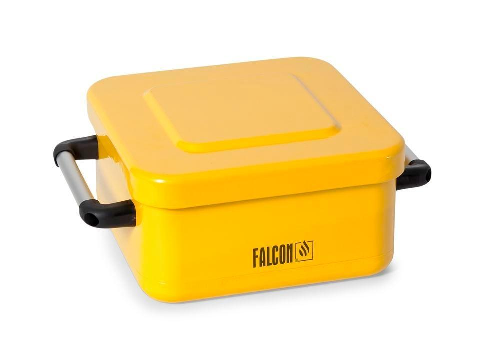 FALCON small parts cleaner in steel, painted, with parts basket, 8 litres - 7