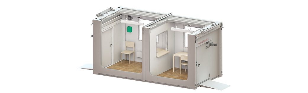 COVID-19 Mobile Contactless Testing Rooms - Now available from DENIOS