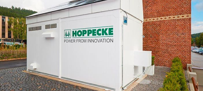Showroom for Hoppecke energy store