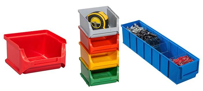 Open fronted storage and shelving bins