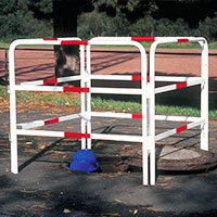 To shut off hazardous areas, construction sites or temporary obstacles