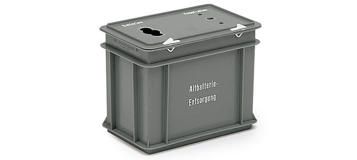 Collection boxes for batteries