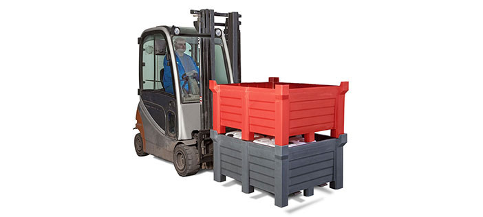 Stacking container