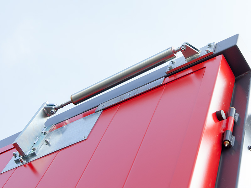Door brackets: Especially outside, precautions should be taken to prevent the swing doors from closing on their own. We offer magnets, electro-magnetic door keeping, storm hooks and door damper.