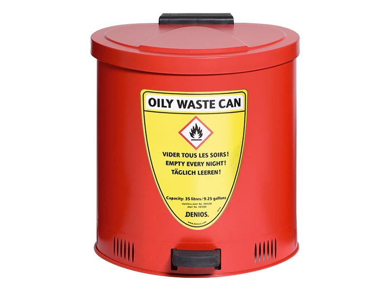 Flame retardant waste bins