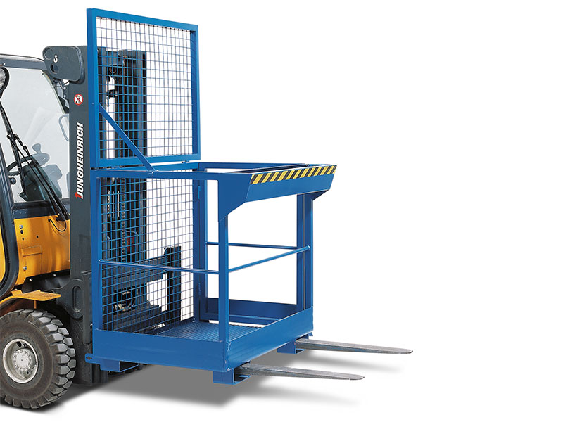 Work platforms for cranes and forklifts