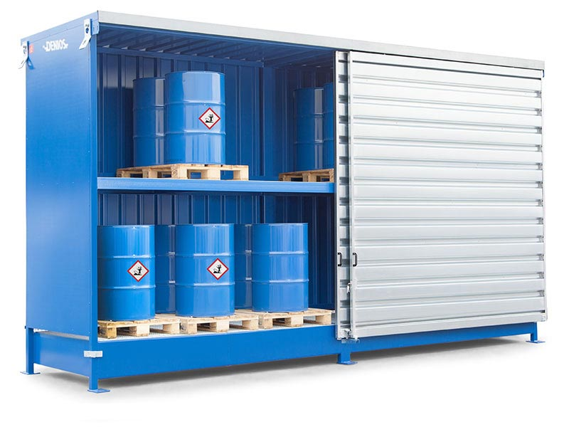 Drum storage containers