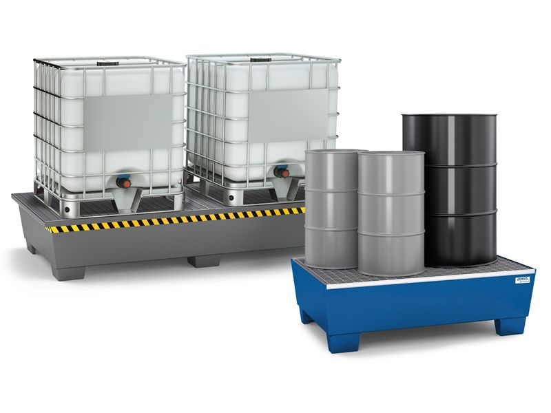 Steel Spill Pallets for IBCs, Drums and Barrels