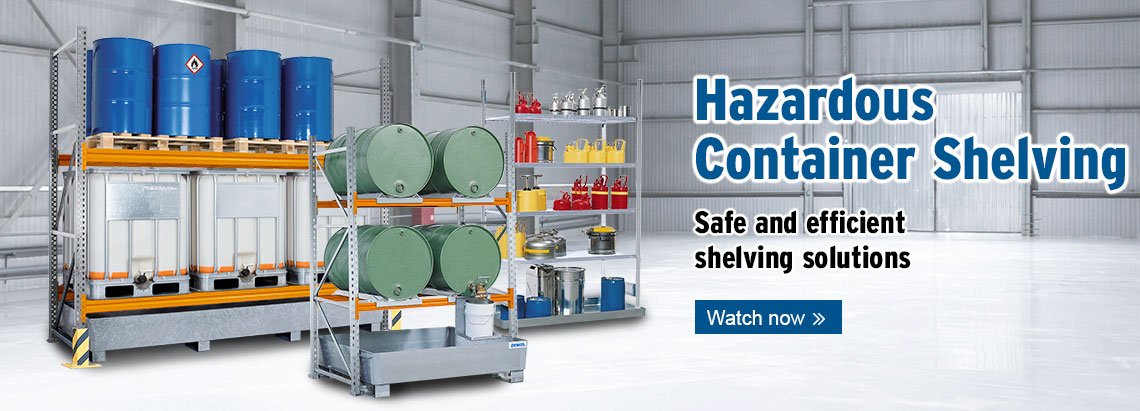 hazardous shelving banner