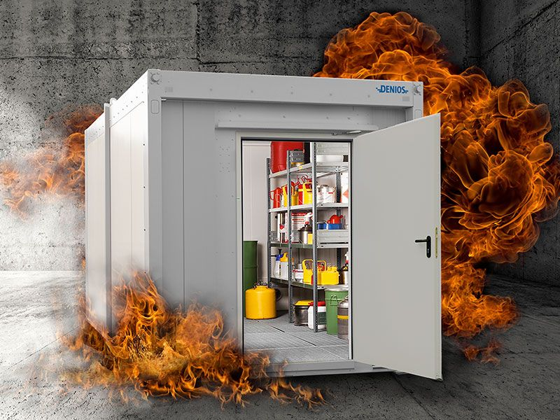 fire rated storage container